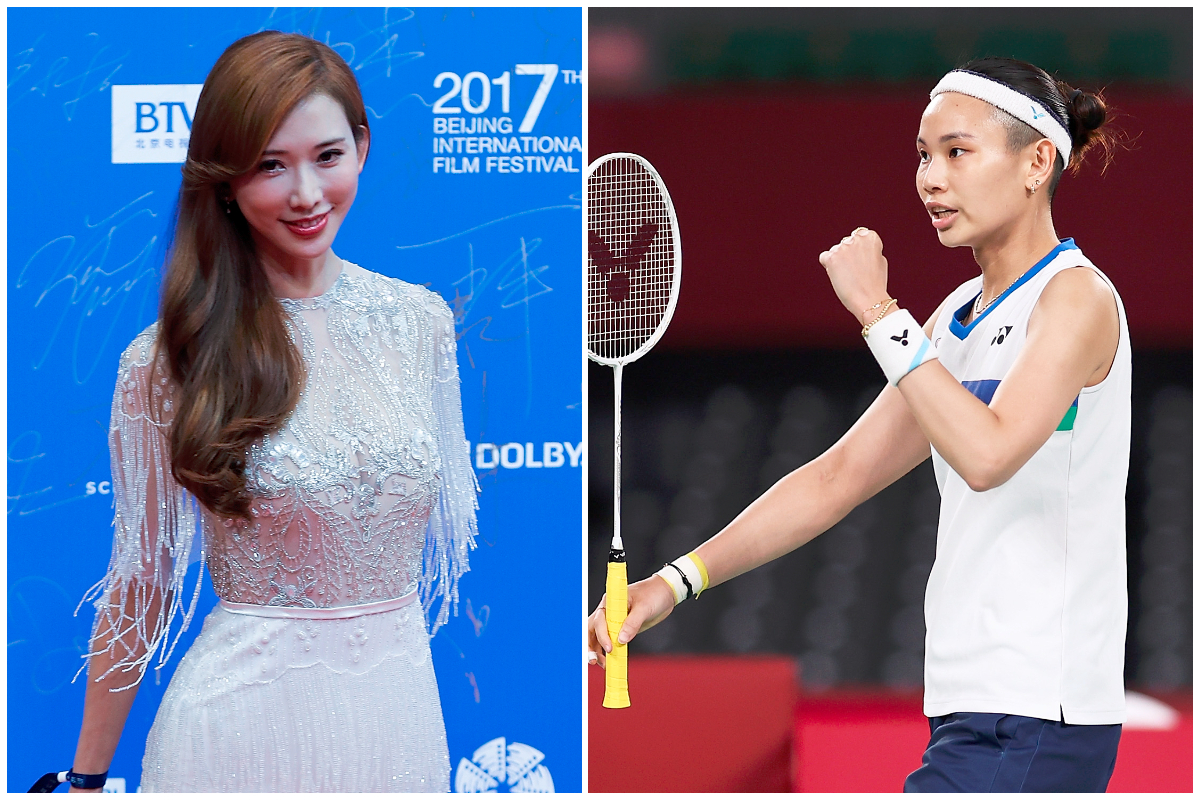 林志玲(左)與戴資穎資料照。( Getty Images/大紀元合成)