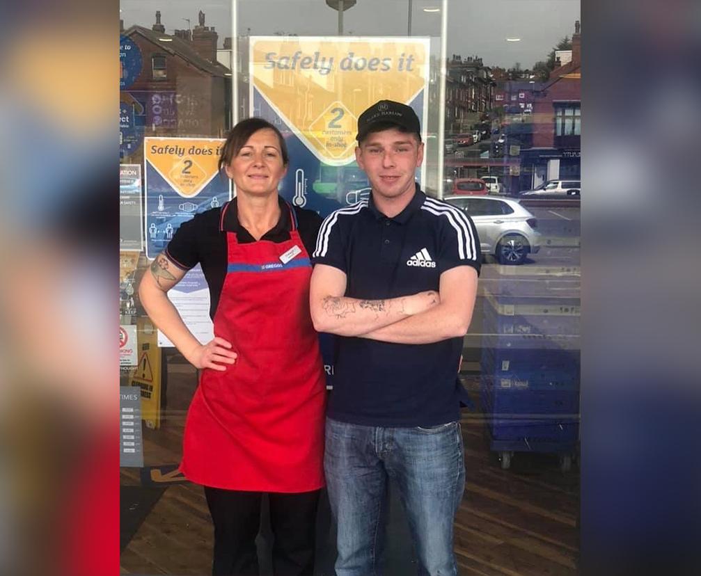 麵包店經理謝拉和喬希‧埃利斯。(弱勢公民支持利茲提供)