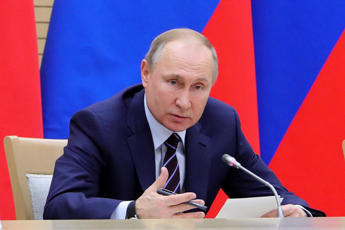 圖為俄羅斯總統普京(Vladimir Putin)。(攝於2020年1月16日)。(Mikhail KLIMENTYEV / SPUTNIK / AFP)