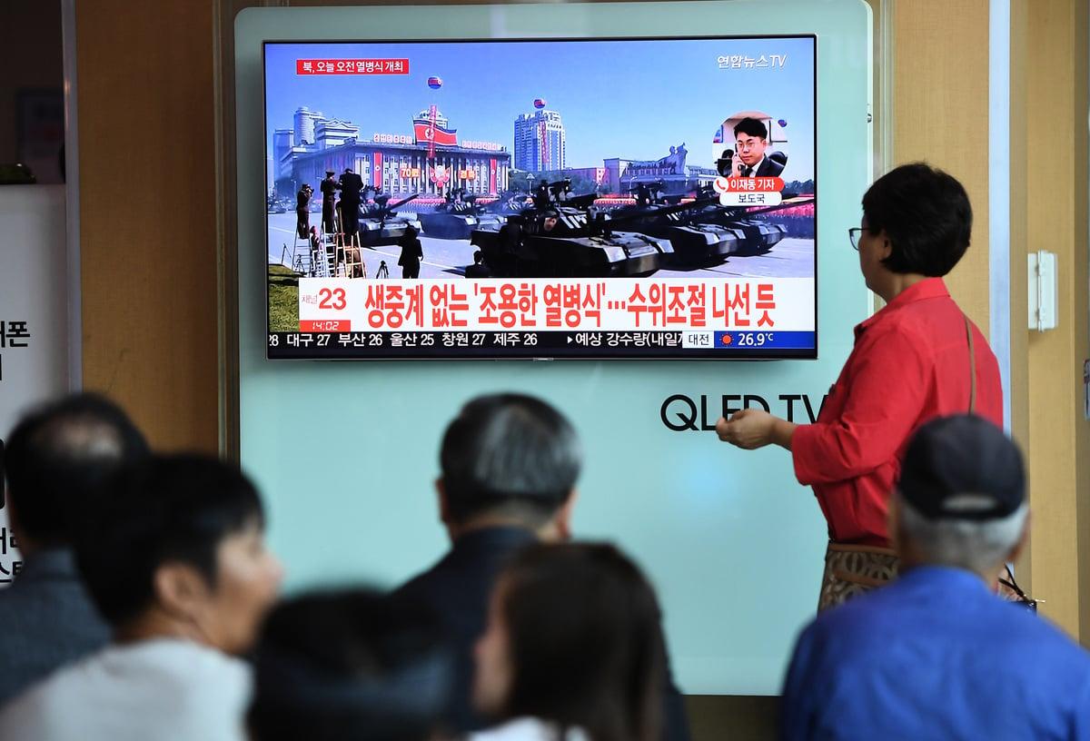 今年6月第一次特金會後,美朝核武談判進展有限。有消息稱,北韓可能在發展新型尖端武器。(JUNG YEON-JE/AFP/Getty Images)