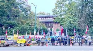 十一溫哥華多團體集會譴責中共 籲加國強硬
