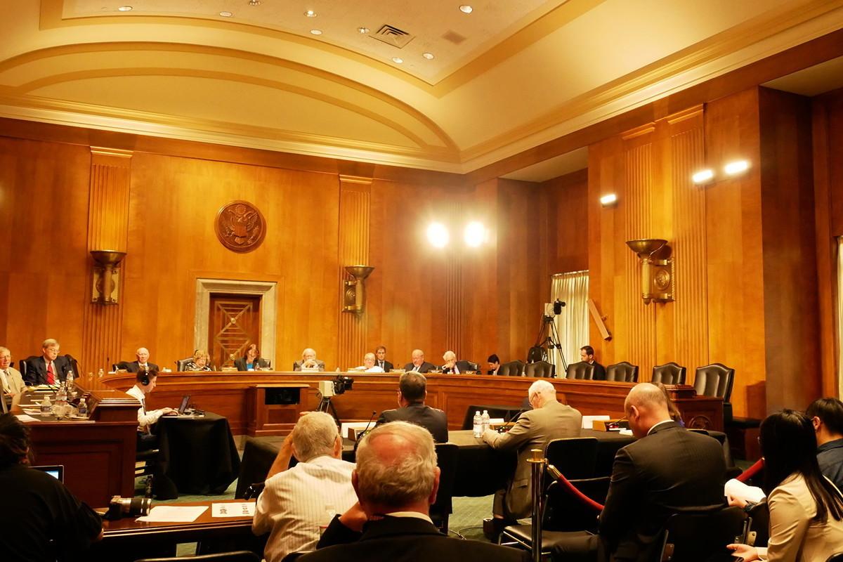 9月4日,美國國會下屬的中美經濟和安全審查委員會(USCC)在參議院就中美關係舉行了三個不同主題的聽證。圖為聽證會現場。(李辰/大紀元)