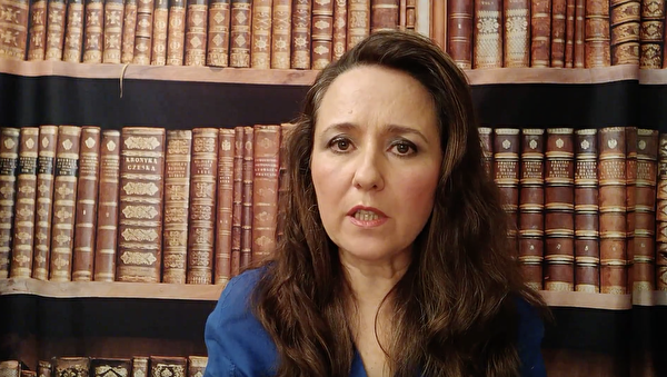 大律師索菲‧約克(Sophie York)在聲援信中呼籲世界共同努力,結束迫害。(影片截圖)