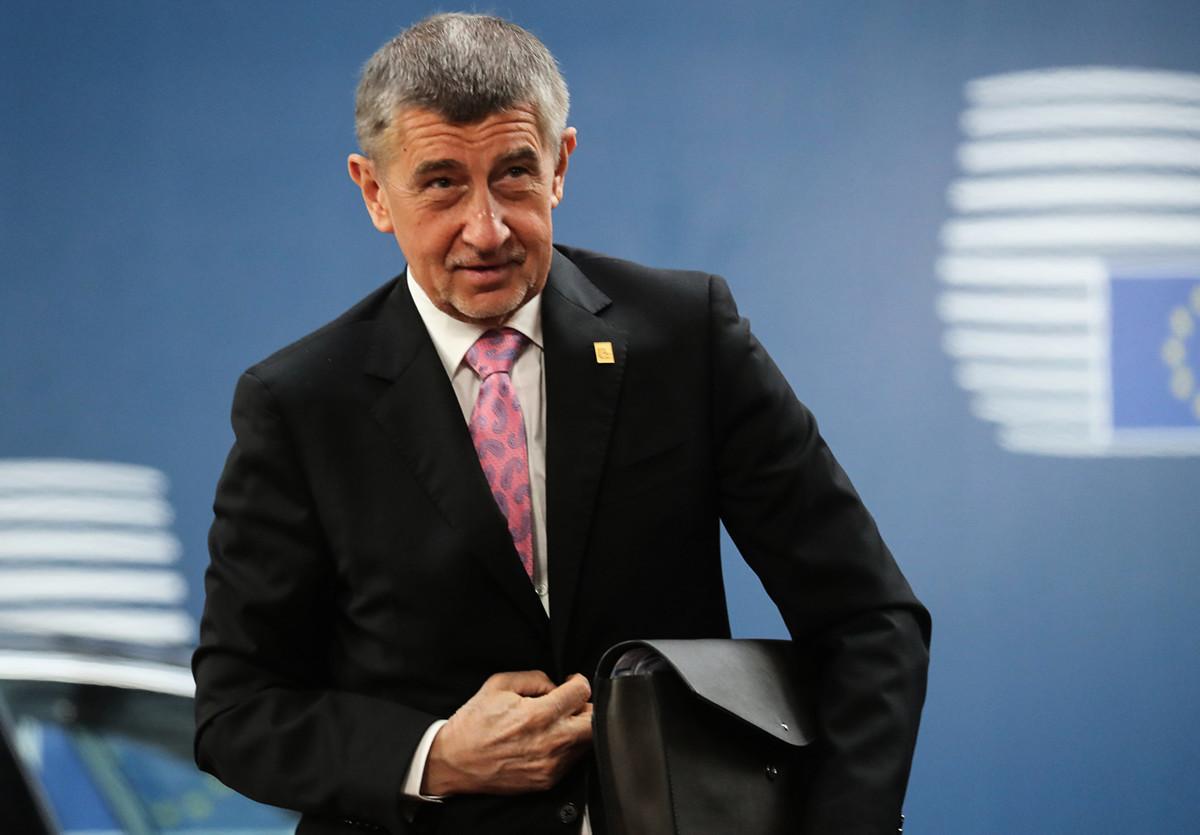 中共在今年1月向捷克當局發送威脅信。捷克總理巴比什日前要求中共撤換大使。圖為巴比什。(Ludovic Marin / various sources / AFP)