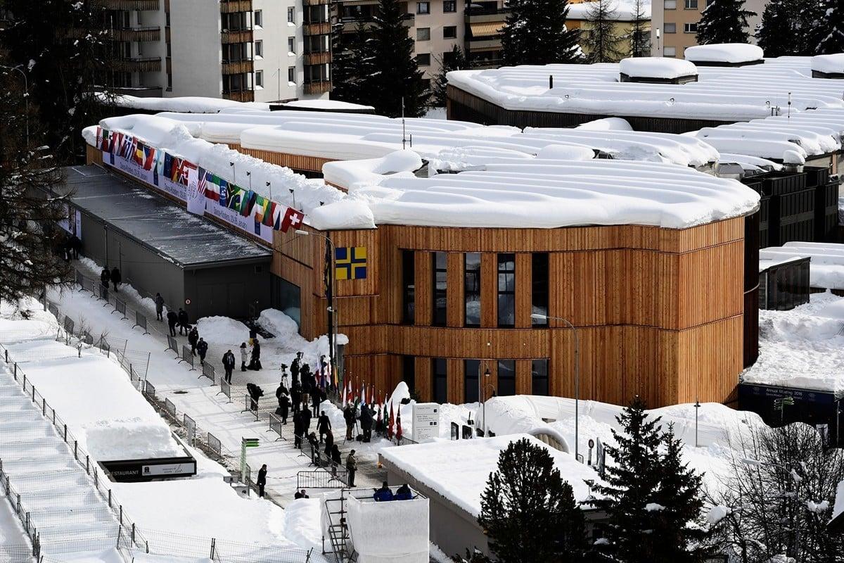 達沃斯會議中心,位於瑞士東部達沃斯鎮,一年一度的世界經濟論壇(WEF)的舉辦地。( Miguel MEDINA/AFP)