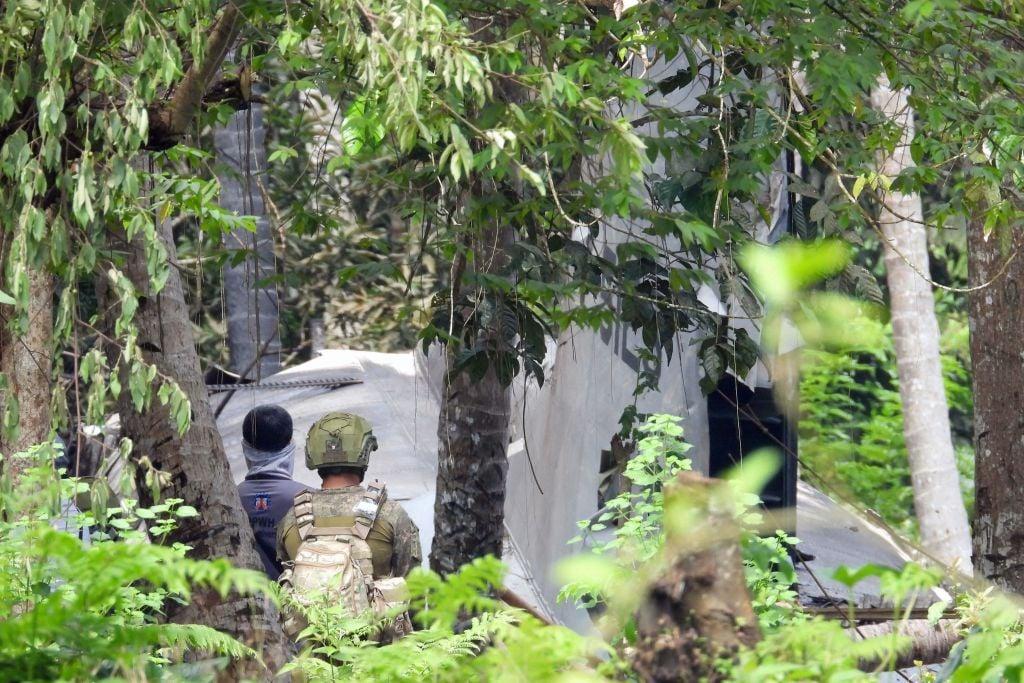 菲律賓軍方運輸機墜毀事件已經導致52人死亡。(NICKEE BUTLANGAN/AFP via Getty Images)