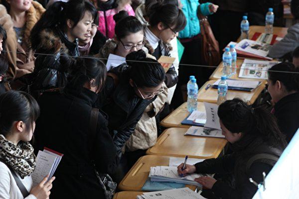 有報告顯示,目前清華北大的畢業生月薪都還不到1萬。(VCG/VCG via Getty Images)