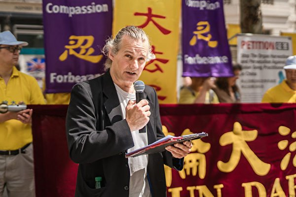 終結中國移植濫用國際聯盟(ETAC)英國委員會成員Mal Mitchell。(晏寧/大紀元)