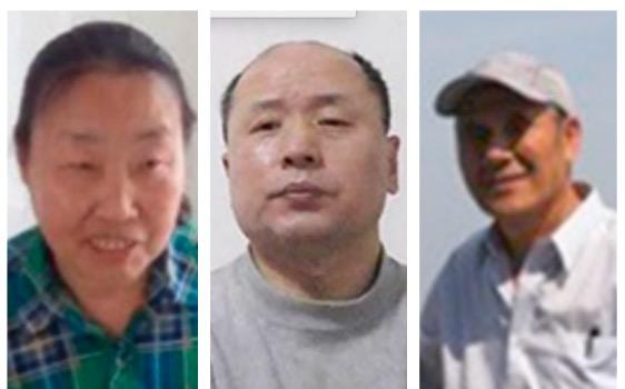 (從左至右)被迫害致死的法輪功學員肖永芬、航空工程師胡林、于永滿。(大紀元合成圖)