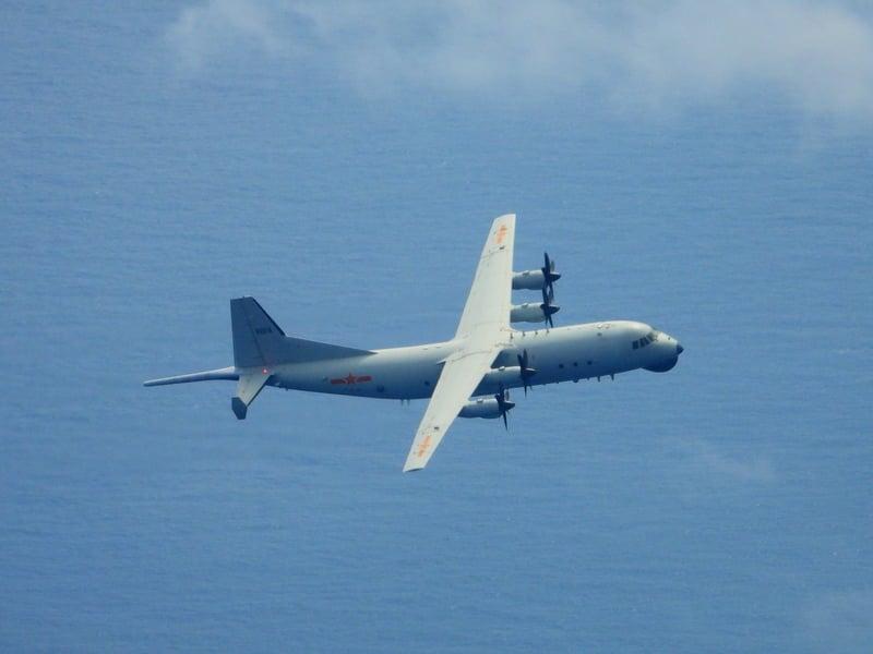 中華民國空軍司令部9月29日表示,中共2架次運8反潛機侵犯台灣西南防空識別區。(台國防部提供)