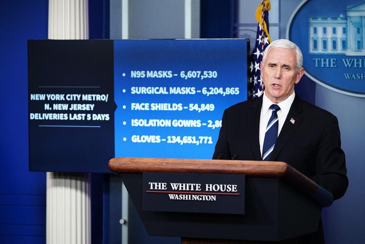 美國副總統彭斯表示,在適當時候,特朗普政府將會調查中共對疫情的處理。圖為彭斯資料圖片。(MANDEL NGAN / AFP)