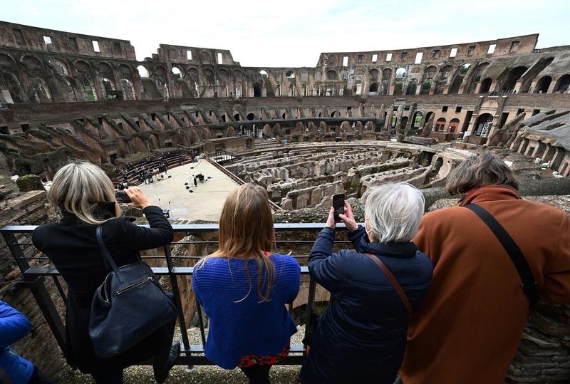 組圖:羅馬古典建築重開放 競技場響起了歌聲