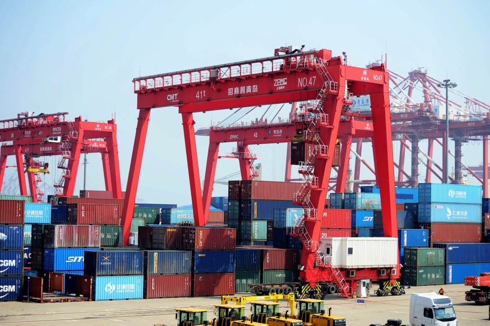 中國2月出口與去年同期相比下跌20.7%,創2016年2月以來最大跌幅。(VCG/Getty Images)