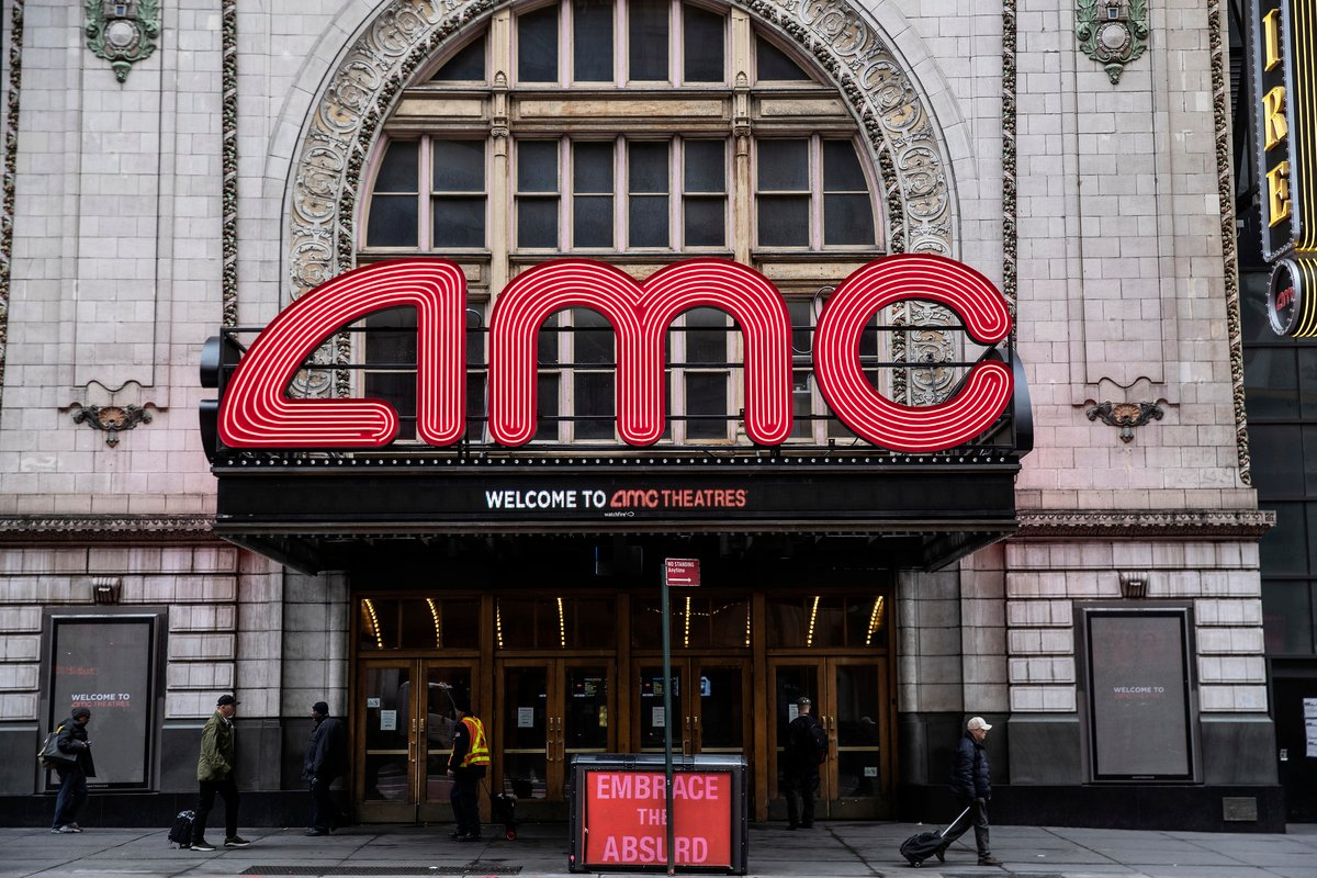 2020年3月17日,為配合地方減緩病毒傳播,紐約市的AMC影院宣佈暫時停業。(Victor J. Blue/Getty Images)