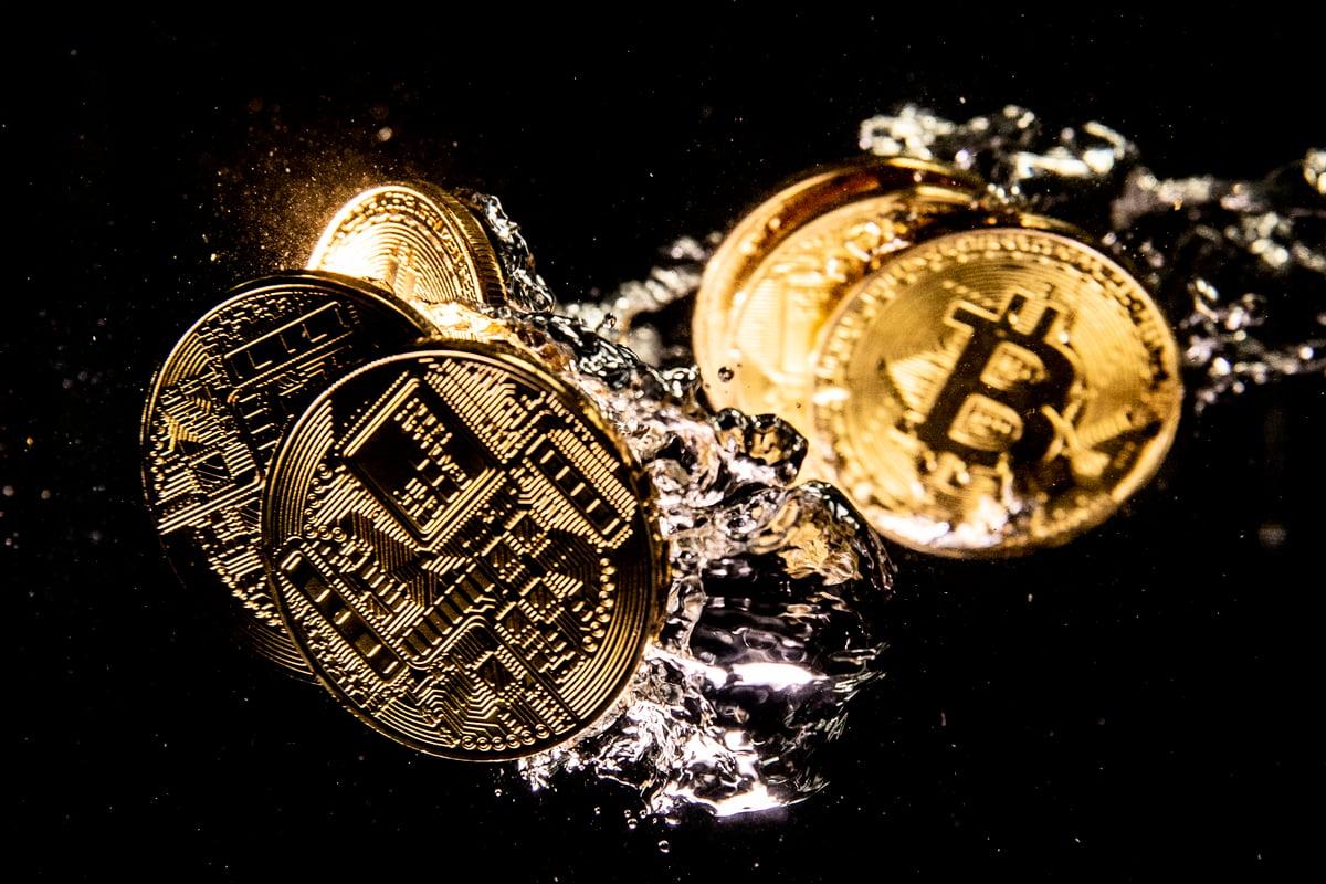 圖為加密貨幣示意圖。(Dan Kitwood/Getty Images)