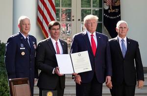 特朗普正式宣佈成立美國太空司令部 加強防禦