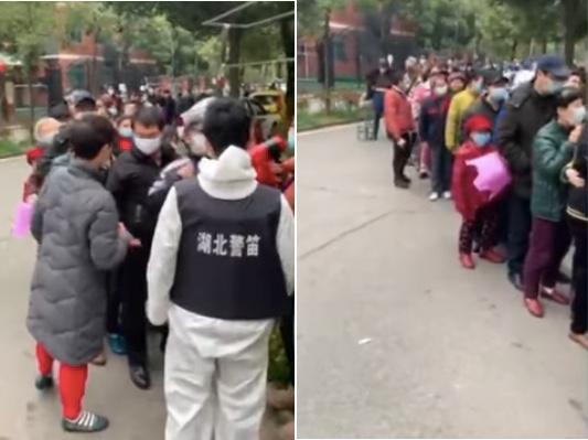 影片:武漢社區排長龍領票 網民憂交叉感染
