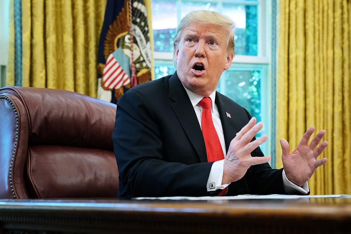 美國總統特朗普在9月6日表示,中國正支付大量關稅給美國,其經濟已達幾十年來最差的狀況。圖為2019年9月4日,特朗普在白宮橢圓形辦公室對媒體記者發言。(Chip Somodevilla/Getty Images)