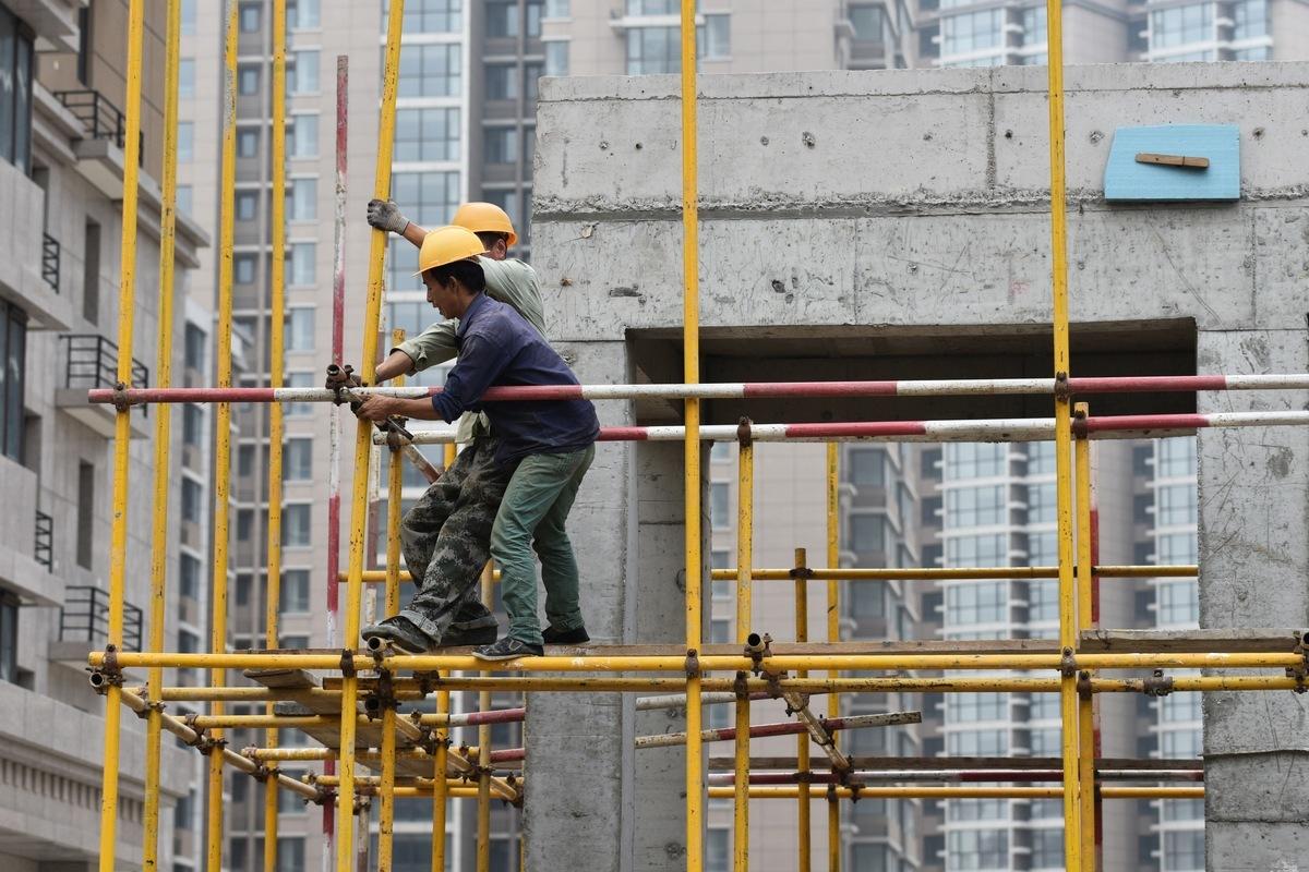 示意圖。圖為北京一處建築工地。(GREG BAKER/AFP/Getty Images)