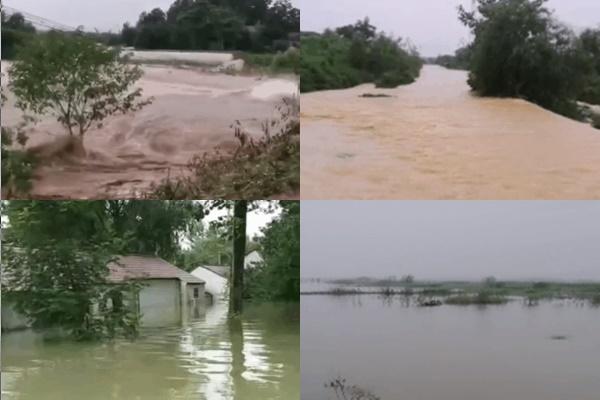 位於長江中下游的安徽省長江銅陵段水位全面超警,多處潰圩或面臨潰圩,水位相當於1998年大洪水。(村民提供)