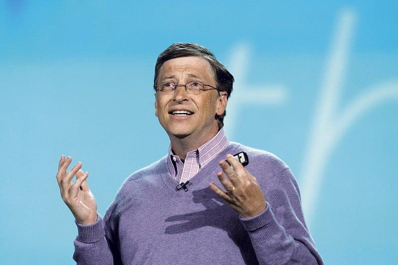 科技巨頭微軟(Microsoft)聯合創始人比爾·蓋茨(Bill Gates)稱,與史蒂夫·喬布斯(Steve Jobs)相比,他是小巫見大巫。(David Paul Morris/Getty Images)