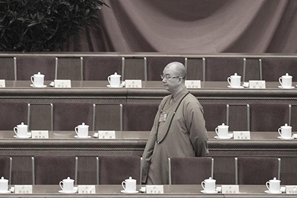 釋學誠(圖)被實名舉報性侵多名女弟子、非法建築等後,8月15日辭去中共佛教協會會長職務。(WANG ZHAO/AFP/Getty Images)