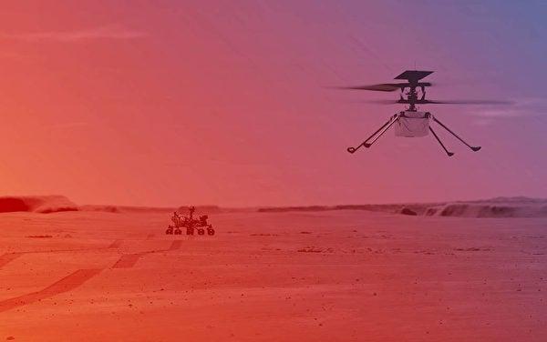 「創新號」(Ingenuity)迷你火星直升機。(NASA/JPL-Caltech)