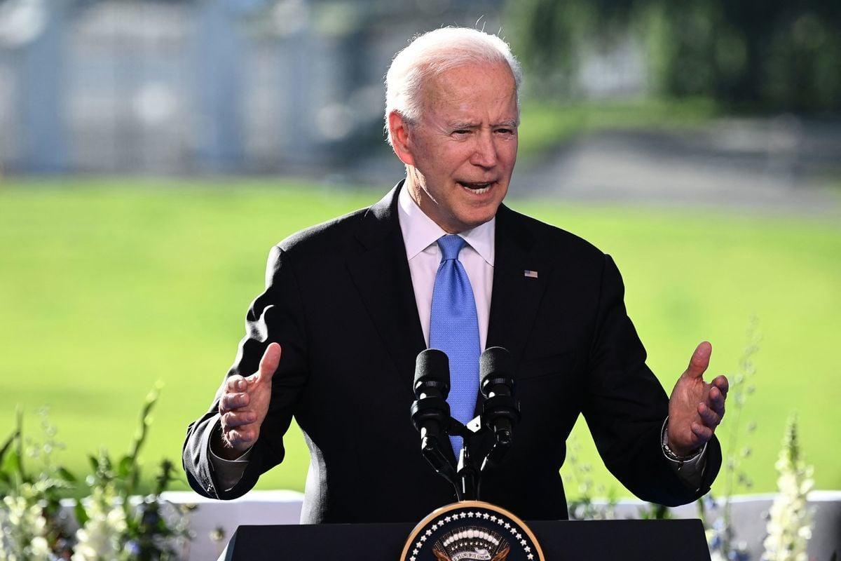 圖為美國總統拜登。( BRENDAN SMIALOWSKI/AFP via Getty Images)