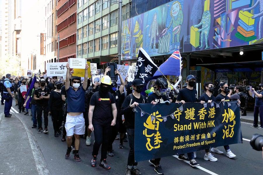 【9.29反極權】全球連線反共 悉尼逾三千人聲援