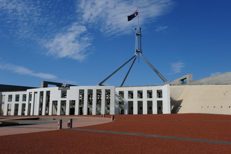 前澳洲聯邦眾議院議長畢紹普質疑拜登的親共立場,指假如拜登成為下一屆美國總統的話,將會對台灣和澳洲構成重大風險。圖為澳洲眾議院。(簡玬/大紀元)