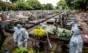 疫情反彈 巴西單日死亡新高印度新增破紀錄