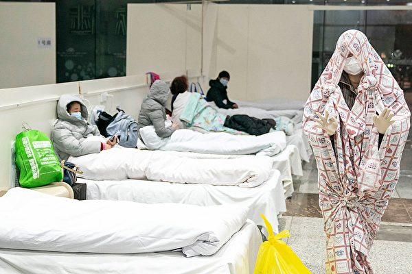 武漢展覽中心改為的方艙醫院。(STR/AFP via Getty Images)
