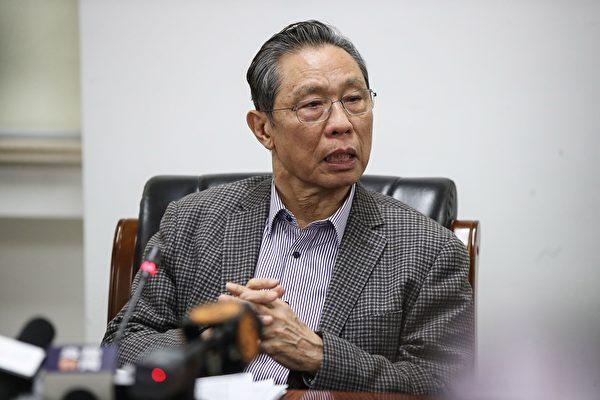 中共國家衛健委高級別專家組組長鍾南山。(STR/AFP via Getty Images)