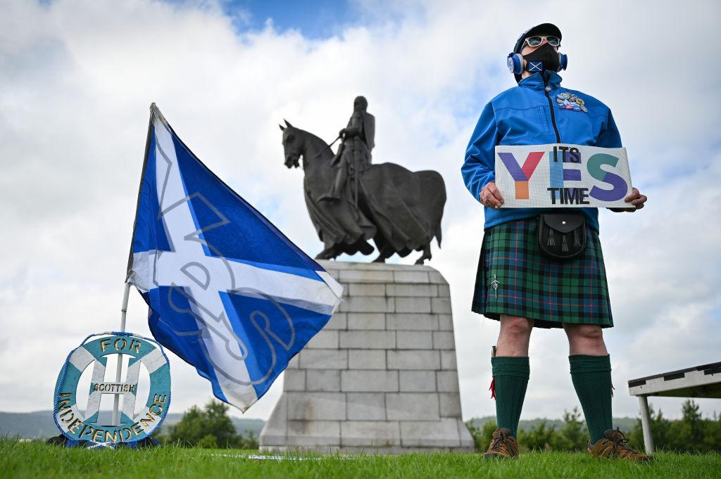 民意調查綜合結果顯示,蘇格蘭受訪者中有49%認為,蘇格蘭有可能在十年內獨立。(Jeff J Mitchell/Getty Images)