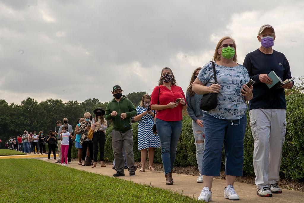 9月18日,美國維珍尼亞州開始美國大選的早期親臨投票。(Tasos Katopodis/Getty Images)