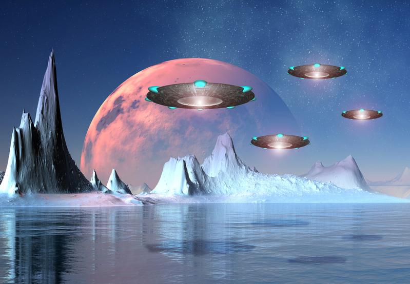 至今為止,科學家在地球上已找到眾多證據,不僅記錄外星人在地球居住過,也記錄人類文明被毀滅。圖為UFO構想圖。 (Fotolia)