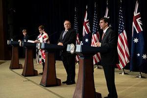 美澳聯合聲明聚焦八議題 蓬佩奧讚澳洲抗共