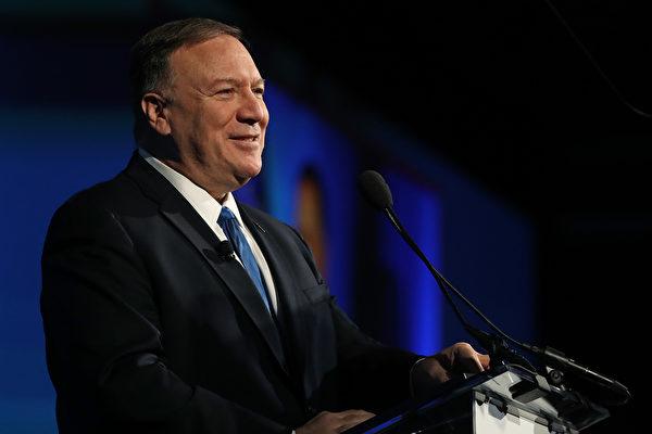 美國國務卿蓬佩奧於10月30日在紐約發表演說時表示,美國必須正面對抗中共對美國與全世界構成的挑戰。圖為2019年10月22日,蓬佩奧於華府發表演說。(Mark Wilson/Getty Images)