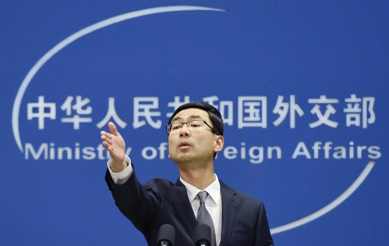 圖為中共外交部發言人耿爽資料圖片。(大紀元資料室)