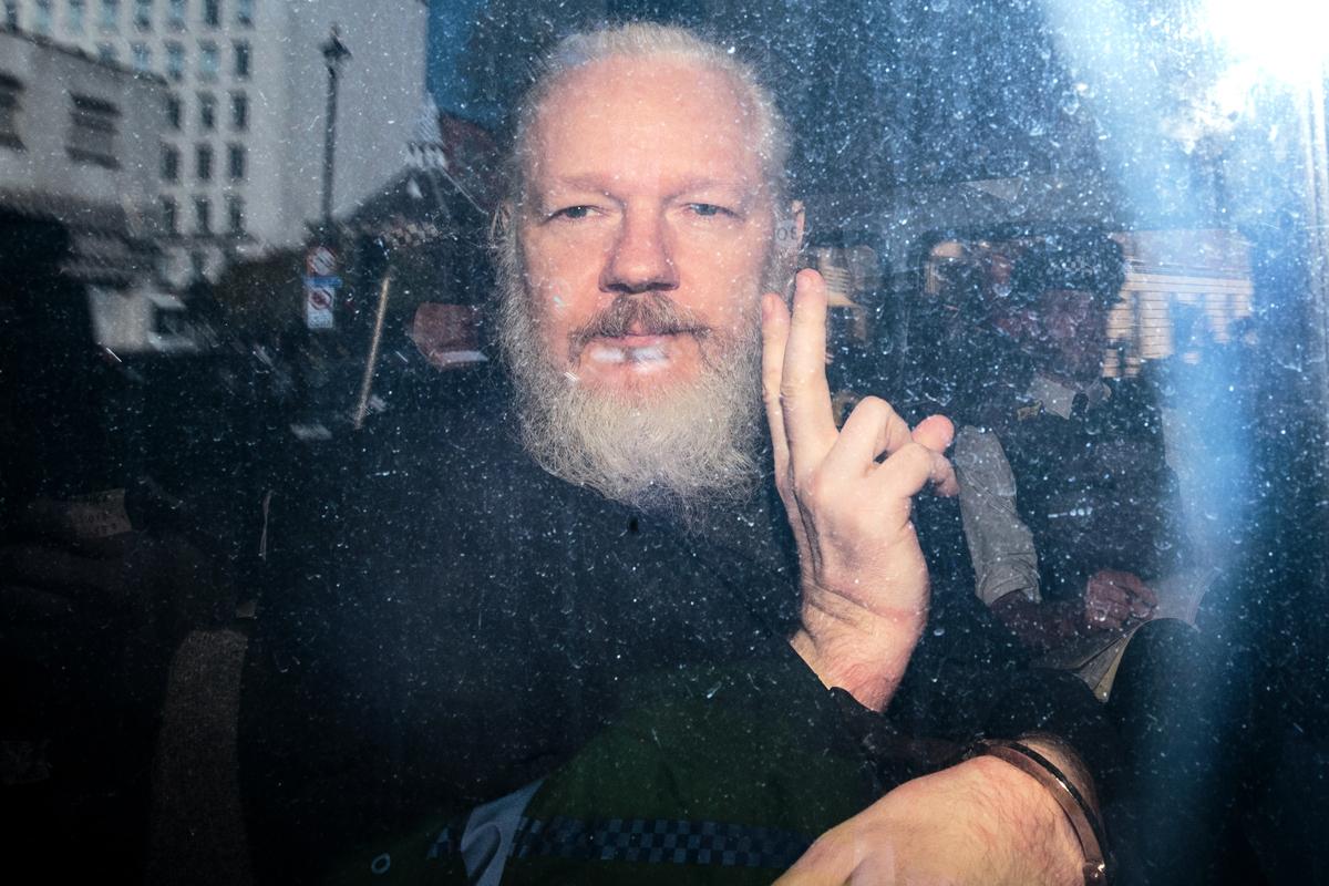 圖為維基解密創始人阿桑奇。(Jack Taylor/Getty Images)