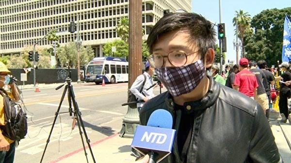 加州大學洛杉磯分校緬甸學生組織(BURSA at UCLA)負責人Thet Lin Tun。(新唐人電視台提供)