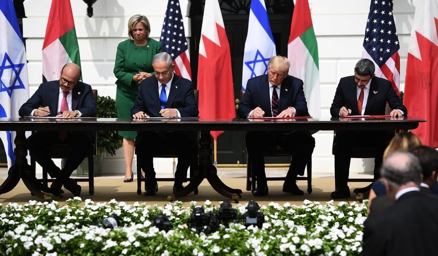 以色列和阿聯酋巴林簽歷史性協議 特朗普見證