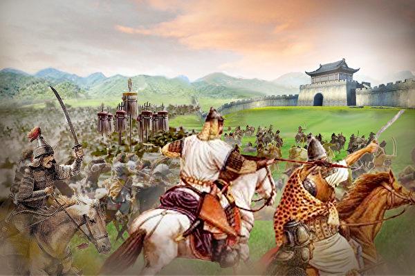 這一時期蒙軍在襄樊外圍修築十餘處城堡,建立起長期圍困襄樊的據點,完成了對襄樊的戰略包圍。(大紀元製圖)