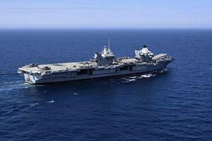 英航母與山東號同現身南海 英國防部發聲明
