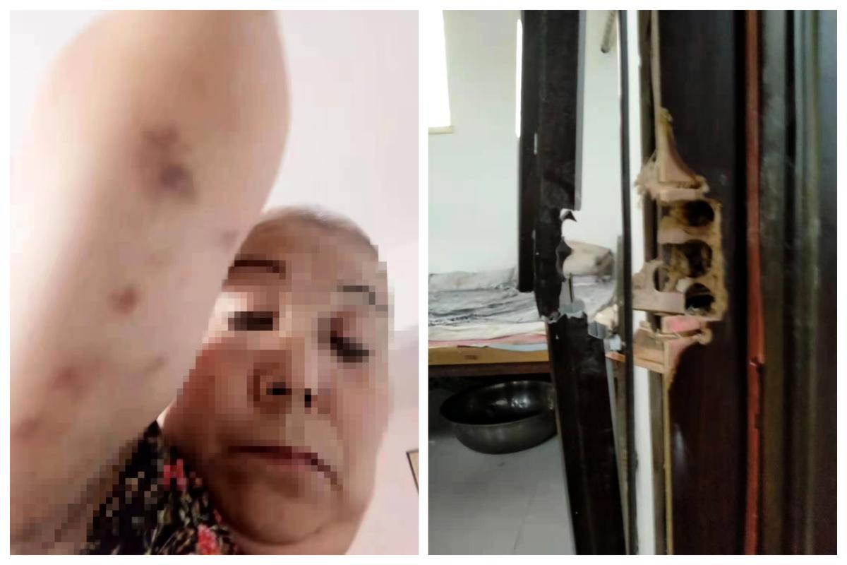 吉林訪民劉亞傑在北京遭入室綁架,暴力截訪。(受訪者提供)