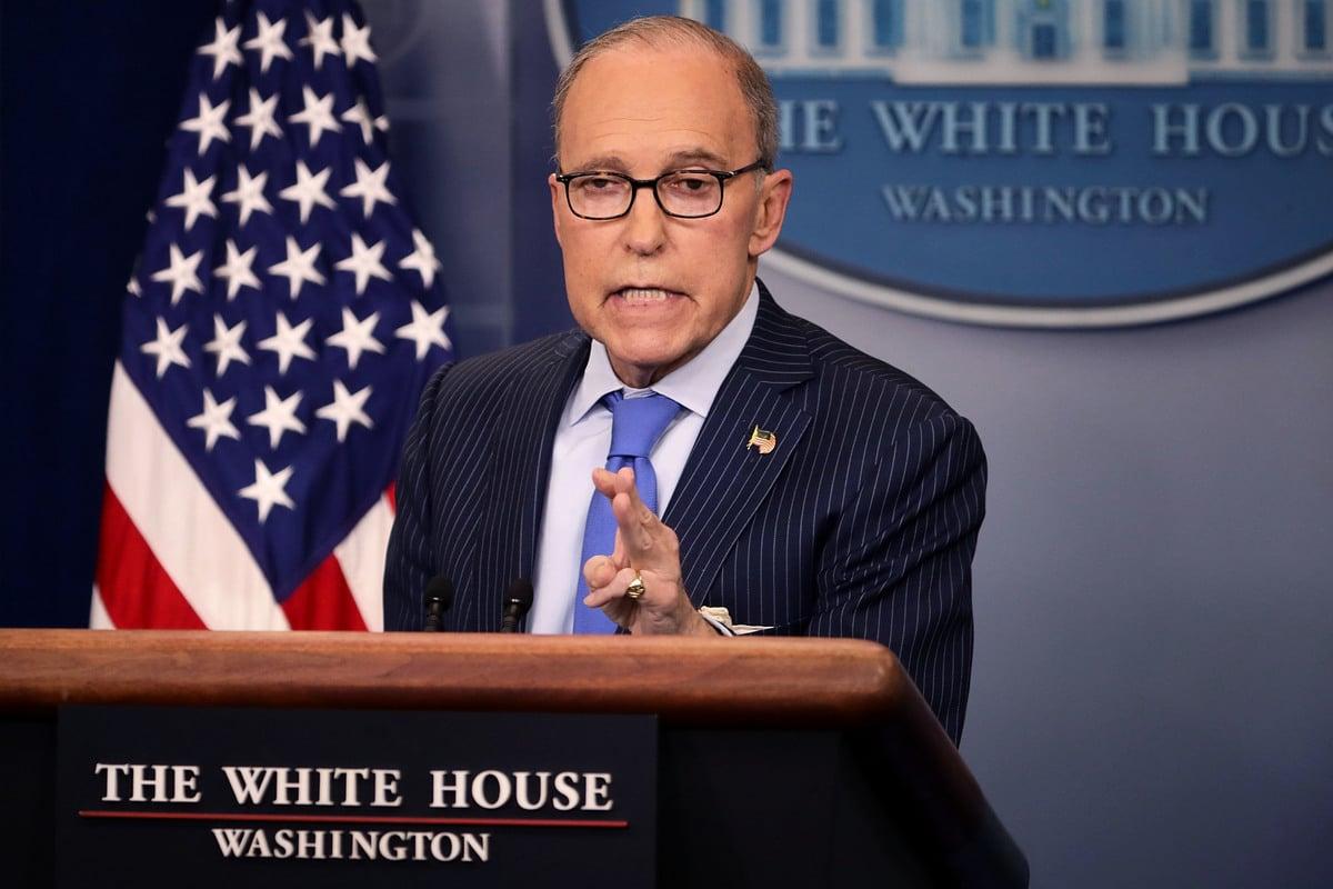 周四(2月14日),白宮經濟顧問拉里‧庫德洛(Larry Kudlow,如圖)表示,目前尚未決定是否延長3月1日貿易戰停火時限。 (Chip Somodevilla/Getty Images)