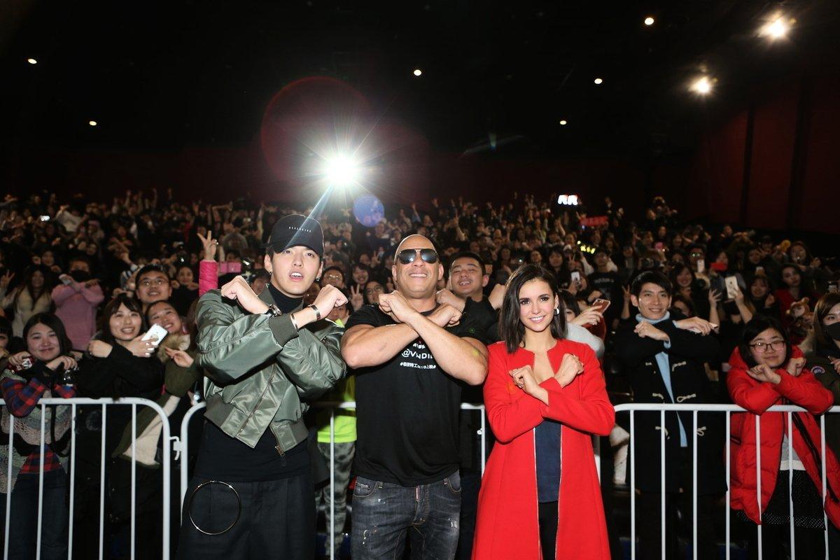 2017年2月10日,吳亦凡參加《極限特工:終極回歸》在北京萬達影城CBD店的首映活動。(Emmanuel Wong/Getty Images for Paramount Pictures)