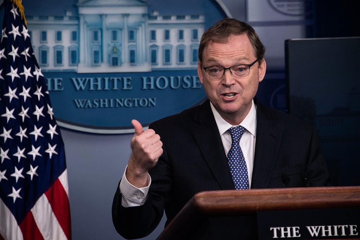 白宮經濟顧問凱文.哈塞特(Kevin Hassett)5月22日警告中共所推動的「港版國安法」所帶來的損害。圖為哈塞特資料照。(NICHOLAS KAMM / AFP)