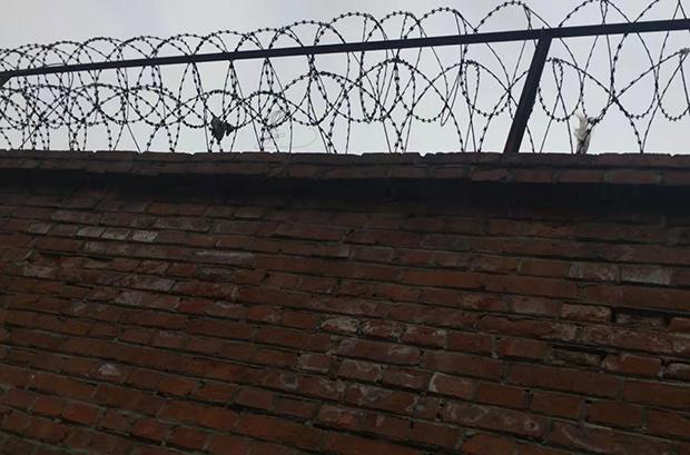 2021年4月24日,張蒙被帶走後發佈的照片,小區業主認為這展示了他被關押的地點。(自由亞洲電台)
