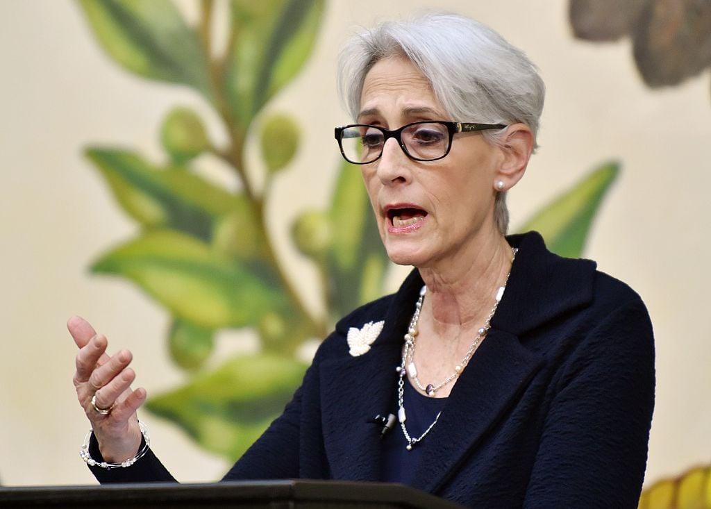 美國副國務卿舍曼(Wendy Sherman,又譯謝爾曼)資料照。(Photo credit should read KAZUHIRO NOGI/AFP via Getty Images)
